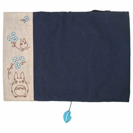 Book Cover - Hemp Cloth - Embroidered - Leaf Mascot - Totoro - Ghibli - 2015 (new)