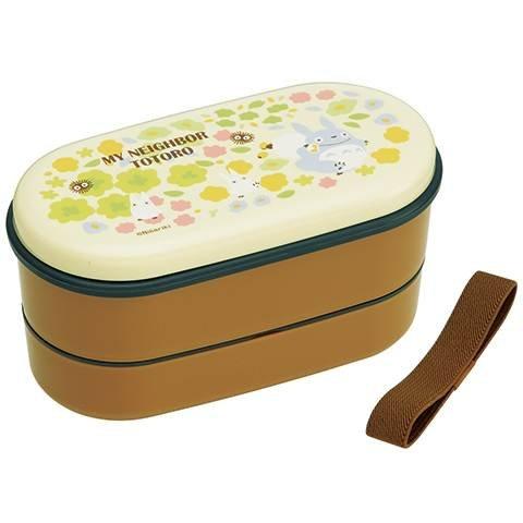 2 Tier Lunch Bento Box & Chopsticks & Belt -dishwasher microwave- made Japan- Totoro -2014 (new)