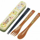 Fork & Spoon & Chopsticks in Case -18cm- cushion - dishwasher - made in Japan - Totoro - 2014 (new)