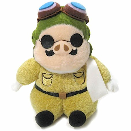 Beanbags / Otedama (M) - H18cm - Fluffy - Porco Rosso - Ghibli - Sun Arrow - 2015 (new)