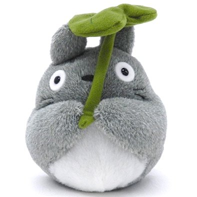 Beanbags / Otedama (M) - H16cm - Fluffy - Totoro Holding Leaf - Sun Arrow - 2015 (new)