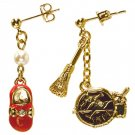 Pierced Earrings - Zinc Alloy - Shoe & Sign & Broom - Kiki's Delivery Service - Ghibli - 2015 (new)