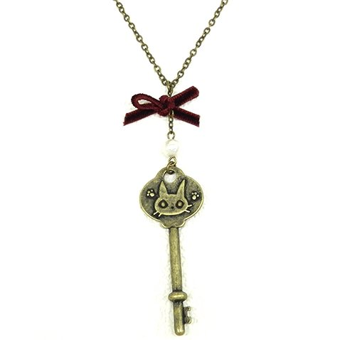 Necklace / Pendant - Brass Cotton Pearl - Key - Jiji - Kiki's Delivery Service - Ghibli - 2015 (new)