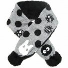 Scarf - Kids - Jacquard Weaving Knit - Boa Applique - Kurosuke - Totoro - Ghibli - 2015 (new)
