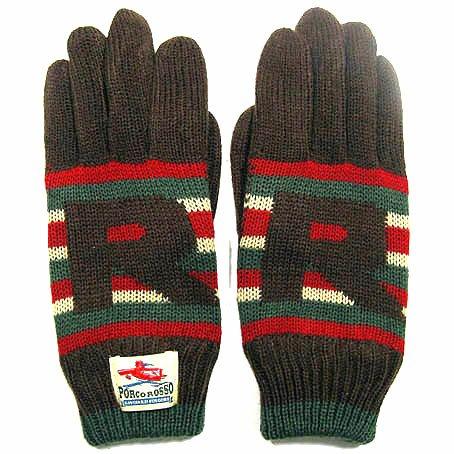 Gloves - Mens - Jacquard Weaving Knit - Porco Rosso - Ghibli - 2015 (new)