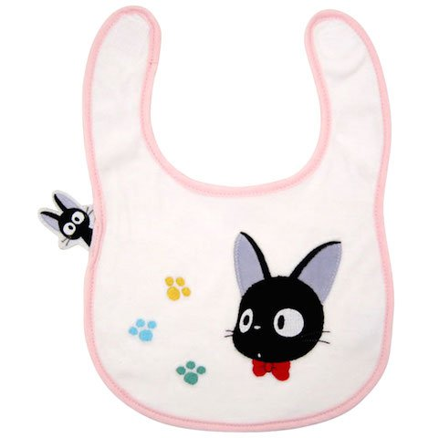 Baby Bib - Velcro - Jiji & Footprints - Kiki's Delivery Service - Sun Arrow - Ghibli - 2014 (new)