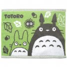 Bath Towel Mat - 35x48cm - green - made in Japan - Totoro & Chu & Kurosuke - Ghibli - 2015 (new)