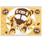 Bath Towel Mat - 35x48cm - yellow - made in Japan - Nekobus - Totoro - Ghibli - 2015 (new)