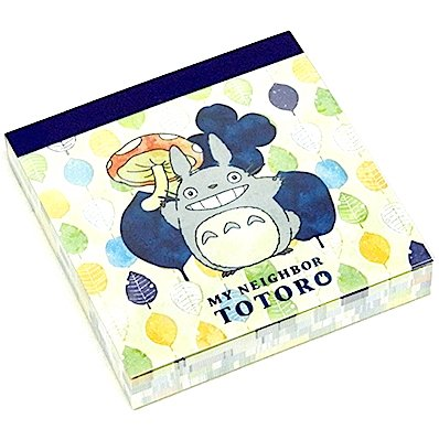 Notepad - 100 Pages - 4 Designs x 25 Page Each - leaves - made in Japan - Totoro - 2015 (new)