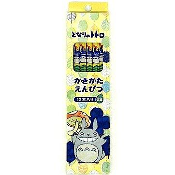 12 Pencil Set - 2B - leaves - made in Japan - Totoro - Ghibli - 2015 (new)