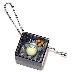 1 left - Music Box - Ball Chain - 3 Acorns & Totoro - Ghibli - no production (new)