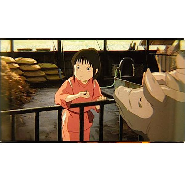 1 left - Bookmark - Movie Film #16 - 6 Frame - Sen & Pigs - Spirited Away - Ghibli Museum (new)