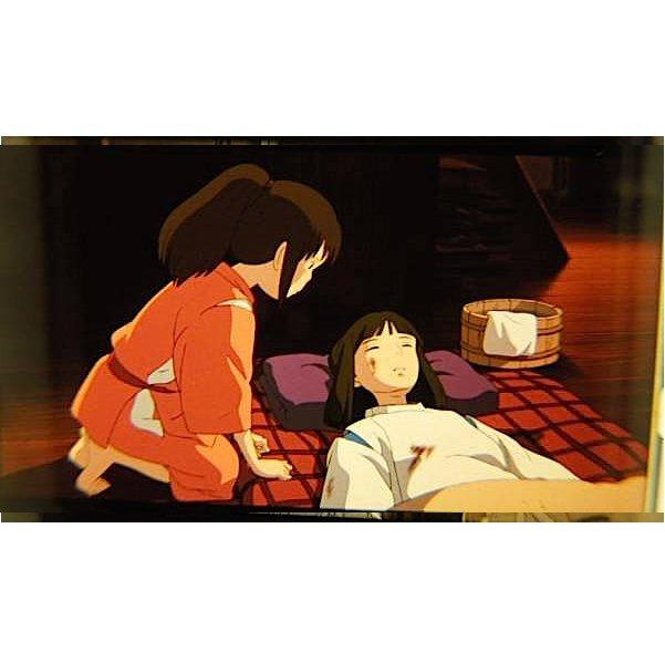 RARE 1 left - Bookmark - Movie Film #19 - 6 Frame - Haku & Sen - Spirited Away - Ghibli Museum