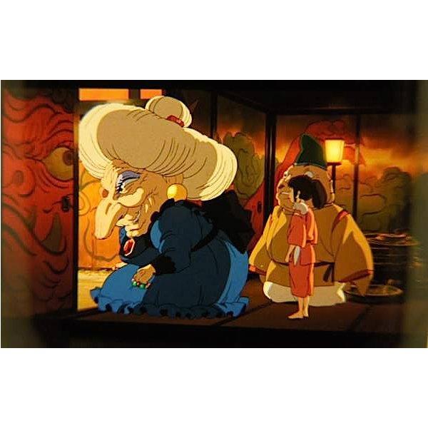1 left - Bookmarker - Movie Film #26 - 6 Frame - Sen & Yubaba - Spirited Away - Ghibli Museum (new)