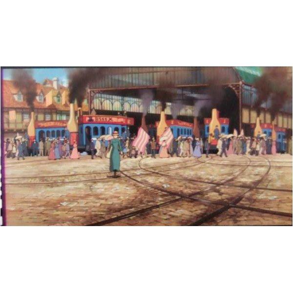 1 left - Bookmarker - Movie Film #48 - 6 Frame - Sophie - Howl's Moving - Ghibli Museum (new)