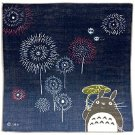 3 left - Handkerchief -29x29cm- Gauze - Fireworks- made in Japan - Totoro -2015- no production (new)