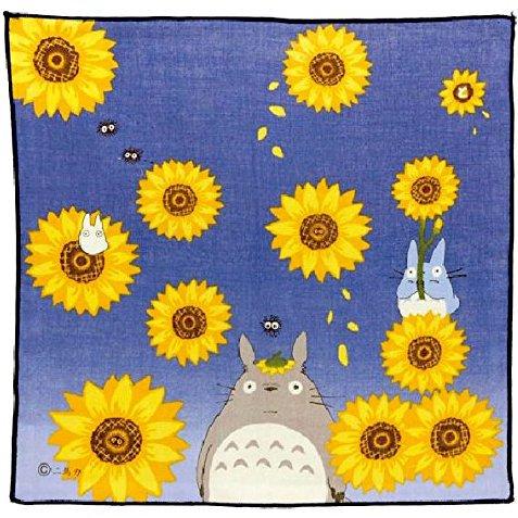 Handkerchief - 29x29cm - Gauze - Sun Flower - made in Japan - Totoro - 2015 - no production (new)