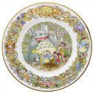 Yearly Plate 2016 - Wooden Stand - Noritake - made Japan - Totoro Mononoke Spirited Away (new)