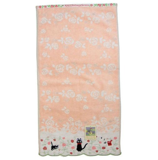 Bath Towel 60x120cm - Shirring Embroidery - Rose Jiji Kiki's Delivery Service 2013 no production