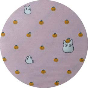 Necktie - Silk - Embroidery - Orange - pink - made in Japan - Totoro - Ghibli - 2016 (new)