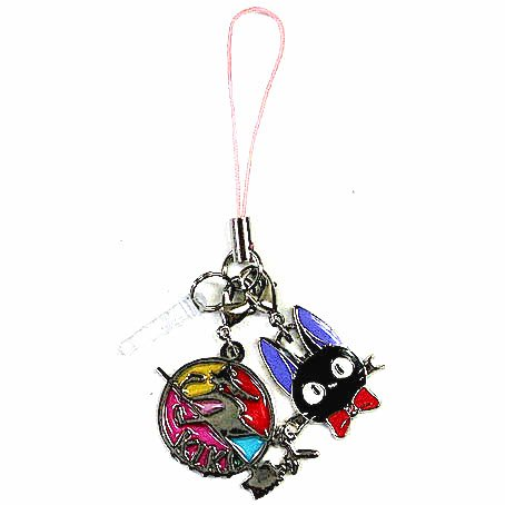 Strap Holder - Stained Glass Style - Jiji & Kiki's Sign - Silver - Kiki's Delivery Service - 2014 (new)
