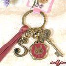Key Ring - Alphabet S - 3 Charm - Colored Stone - Kiki's Delivery Service -2015- no production (new)