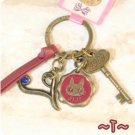 Key Ring - Alphabet T - 3 Charm - Colored Stone - Kiki's Delivery Service -2015- no production (new)