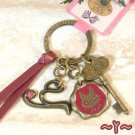 Key Ring - Alphabet Y - 3 Charm - Colored Stone - Kiki's Delivery Service -2015- no production (new)