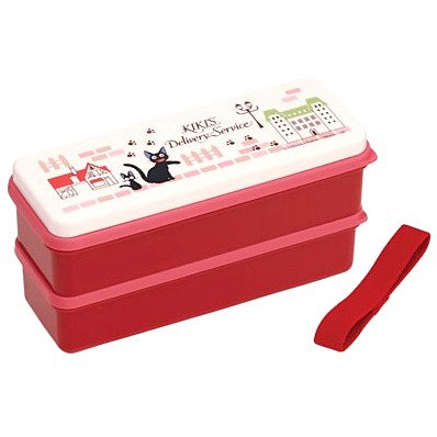 2 Tier Lunch Bento Box & Chopsticks & Belt - Koriko -made Japan- Kiki's Delivery Service -2014 (new)
