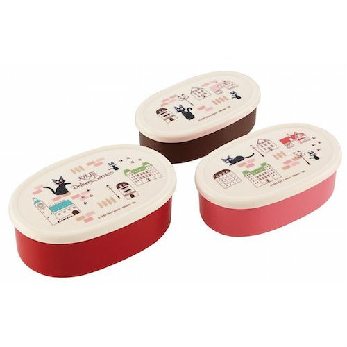 3 Size Lunch Bento Box / Tupperware -made Japan - Kiki's Delivery Service -2014- no production (new)