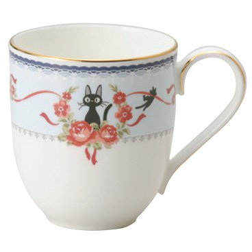 Mug Cup - Bone China - Noritake - blue - Jiji - Kiki's Delivery Service - Ghibli - 2013 (new)