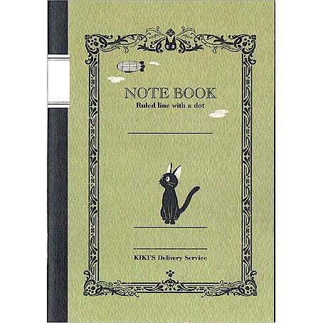 Notebook B6 - Line with Dot - 48 Page - made in Japan - Jiji - Kiki's Delivery Service - 2016 (new)
