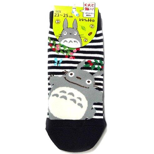 Socks - 23-25cm - Short - Border navy - Tree Fruit - Totoro - Ghibli - 2016 (new)