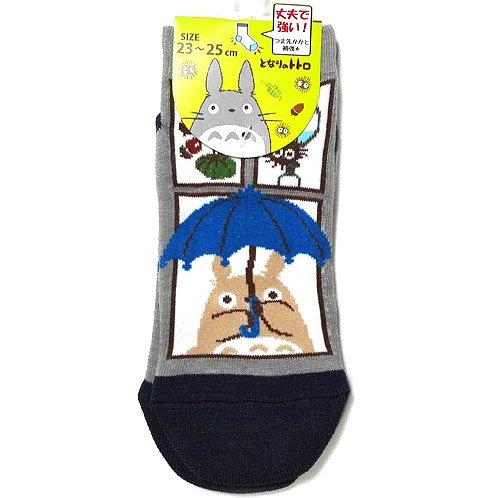 Socks - 23-25cm - Short - Umbrella - Navy - Totoro - Ghibli - 2016 - no production (new)