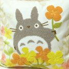 Cushion Cover - 45x45cm - Chenille Embroidery - Flower - Totoro - Ghibli - 2016 (new)