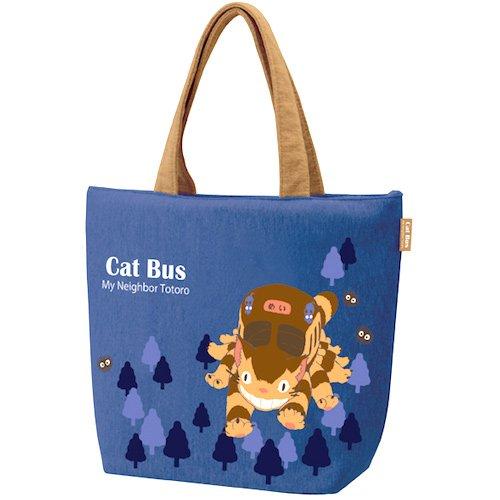 Lunch Tote Bag - Sweat Fabric - Hygroscopic Stretchable - Zipper - Nekobus - Totoro - 2016 (new)