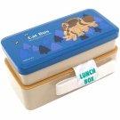 2 Tier Lunch Bento Box - 640ml - Compact - made in Japan - Catbus - Nekobus - Totoro - 2016 (new)