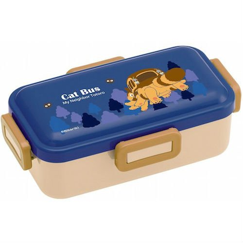 Bento Lunch Box - 530ml - 4 Lock - made in Japan - Catbus - Nekobus - Totoro - Ghibli - 2016 (new)