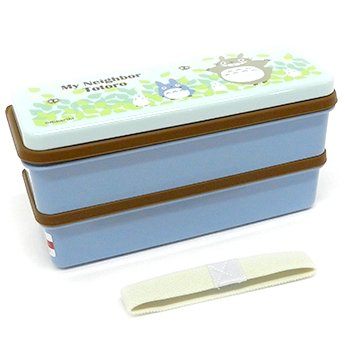 2 Tier Lunch Bento Box - 630ml - Chopsticks & Belt - microwave - made in Japan - Totoro - 2015 (new)