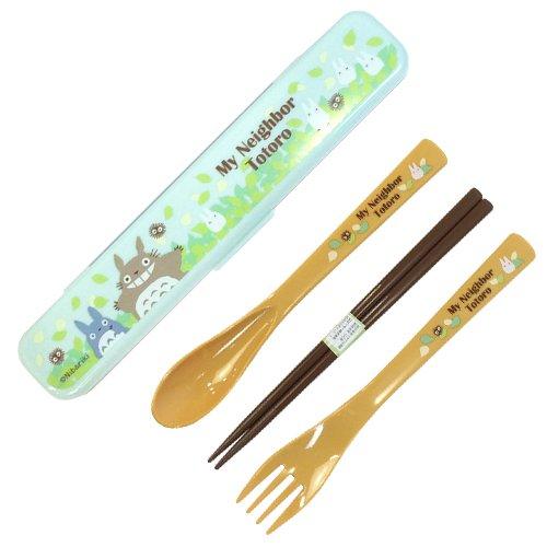 Fork & Spoon & Chopsticks in Case -18cm- cushion - dishwasher - made in Japan - Totoro - 2015 (new)