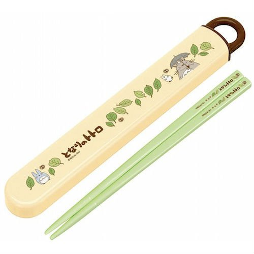 Chopsticks in Case - 16.5cm - yellow - made in Japan - Totoro - Ghibli - 2014 (new)