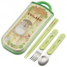 Fork & Spoon & Chopsticks in Case - Trio Set - made in Japan - Totoro - Ghibli - 2013 (new)