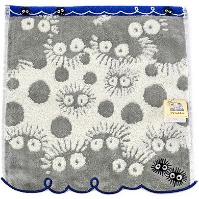 Mini Towel - 25x25cm - Jacquard Weaving - Embroidery - Kurosuke - Totoro - Ghibli - 2016 (new)