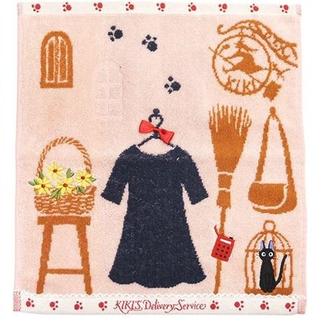 Hand Towel - 34x36cm - Picot Race & Ribbon - Dress - Kiki's Delivery Service - Ghibli - 2016 (new)