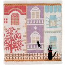 Hand Towel -34x36cm- Applique Embroidery- Building- Kiki's Delivery Service 2014- no production(new)