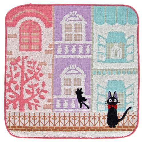 Mini Towel -25x25cm- Applique Embroidery- Building- Kiki's Delivery Service 2014- no production(new)