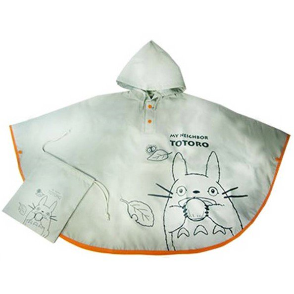 Kid's Raincoat Poncho & Kinchaku Bag - Totoro - Ghibli - 2016 (new)