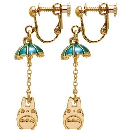 Earrings - Zinc Alloy - Umbrella - Totoro - Ghibli - 2016 (new)