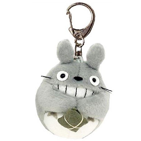 Keyholder - Mascot Plush Doll - Fluffy - Totoro Smiling with Gift - Ghibli - Sun Arrow - 2016 (new)