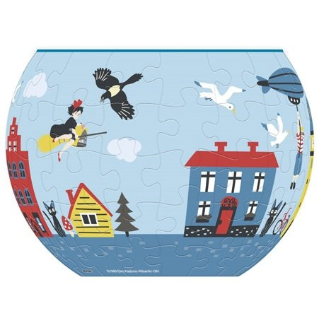80 piece Jigsaw Puzzle - 3D Art Bowl - Koriko & Kiki - Kiki's Delivery Service - Ghibli 2016(new)